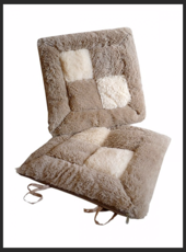подушки на стул меховые, сидушки на стул меховые
